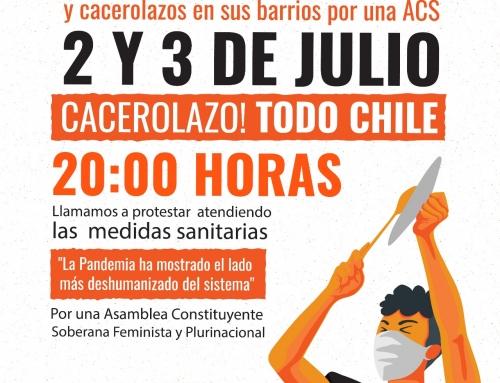 Humanistas se pliegan a jornadas de movilización para exigir soluciones al hambre y desempleo